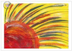 Art Greeting Card - Sun Dreams